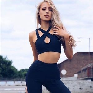 Pants - Active two piece set sports bra and high leggings